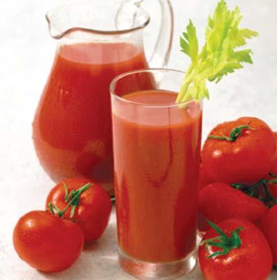 Nước cà chua trị nghẹt mũi 1