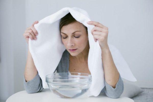 Điều trị bệnh viêm xoang sàng bằng cách xông mũi 1