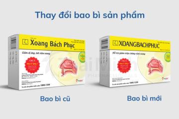 Thông báo thay đổi bao bì nhãn mác sản phẩm Xoang Bách Phục